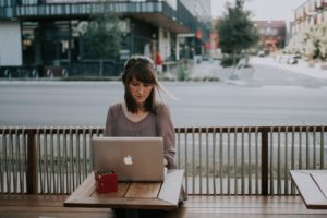 Woman learning all of her options, including abortion